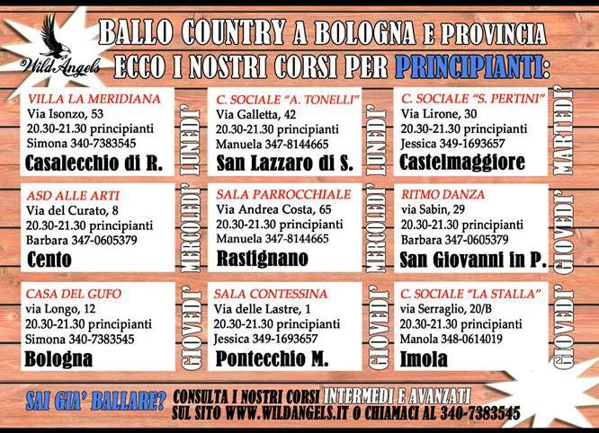 Calendario corsi wildangels bologna 2018-2019